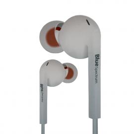 Écouteur stéréo Hifi Bass Hi-Fi Bleu Spectrum R3 - Blanc