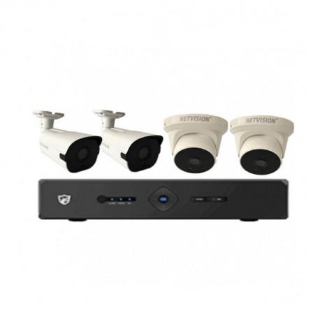4 caméras + Kit DVR
