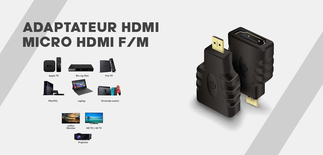 Adaptateur HDMI to Micro HDMI