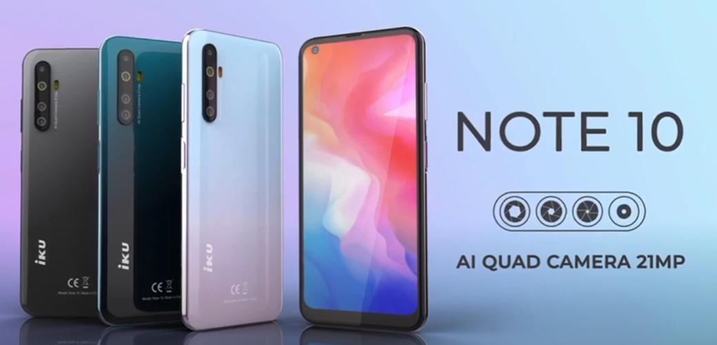 Smartphone IKU Note 10 Prix Tunisie