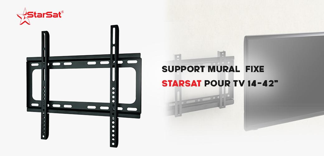"Prix SUPPORT MURAL Fixe POUR TV 14-42"" Tunisie"