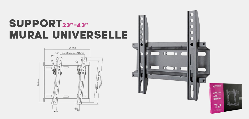 support  tv mural universelle